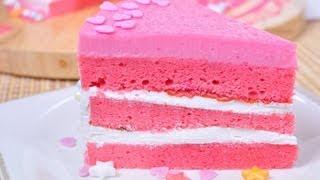 เค้กนมชมพู | เค้กนมเย็น | Pink Cake