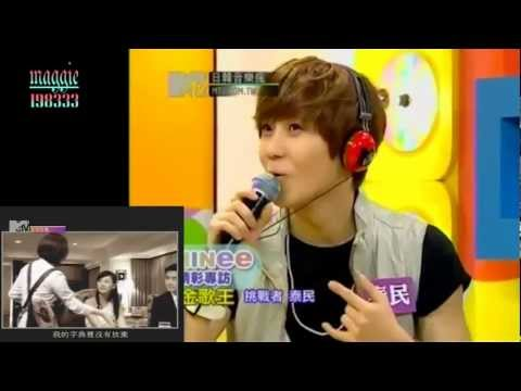 [funny edit] 120709 SHINee Onew Taemin sing Chinese songs with songs added 日韓音樂瘋