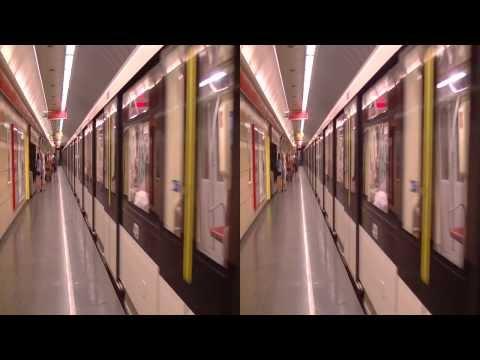 New Trains on Budapest underground line 2 in 3D