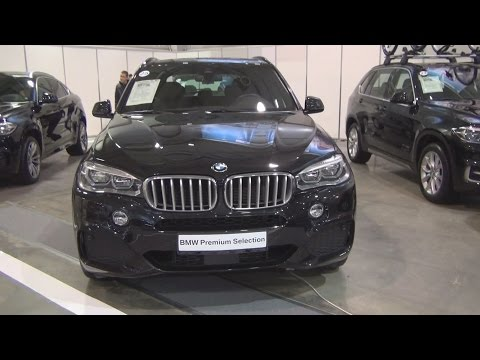 BMW X5 xDrive 40d Black Sapphire Dakota Black (2015) Exterior and Interior in 3D