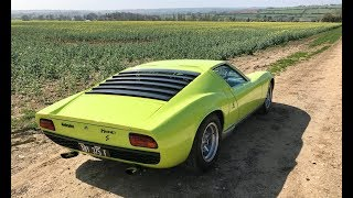 Lamborghini Miura history and drive review. Mega sound!