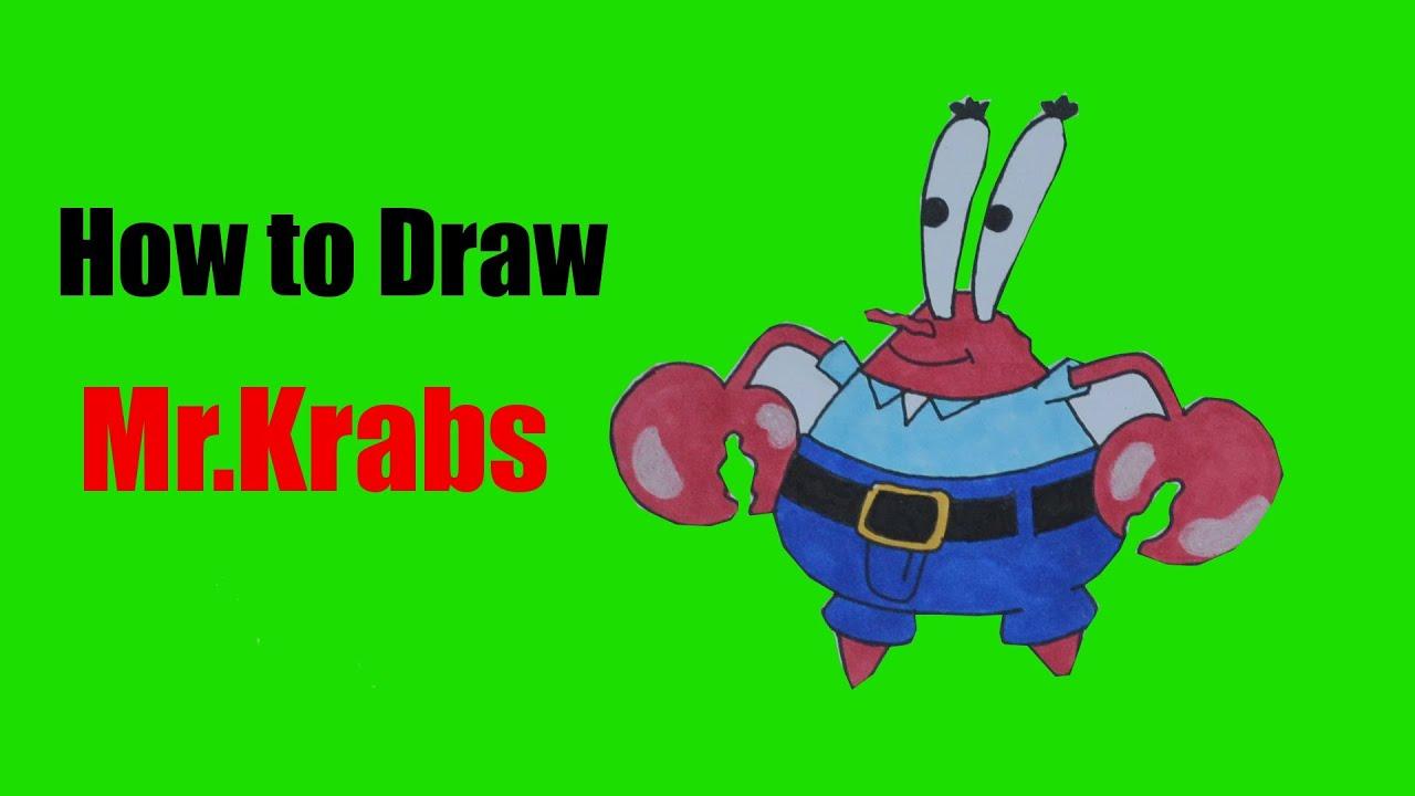 How to Draw Mr.Krabs (SpongeBob SquarePants) - YouTube