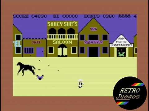 Highnoon para Commodore 64 - Review de RETROJuegos por Fabio Didone