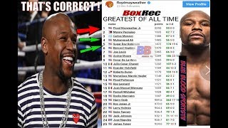 """BREAKING NEWS: FLOYD MAYWEATHER ABSOLUTELY SAY HE'S BETTER THAN MUHAMMAD ALI & """"SUGAR"""" RAY ROBINSON"""