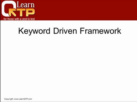 Keyword Driven Framework - QTP