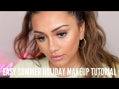 EASY SUMMER HOLIDAY MAKEUP | MY GO TO HONEY MOON MAKEUP LOOK
