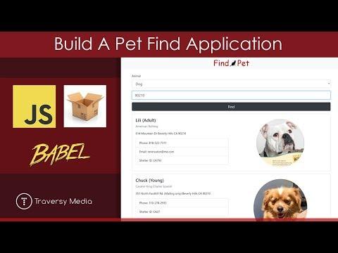 Build A Pet Find App   JS, Parcel, Babel, Fetch-JSONP