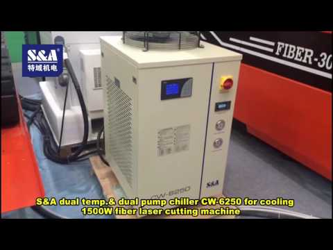 S&A dual temp.& dual pump chiller CW-6250 for cooling 1500W fiber laser cutting machine