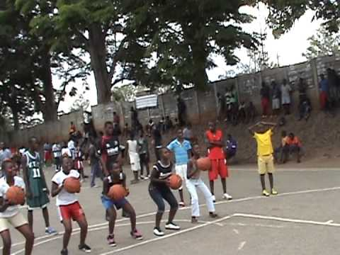 Africa Outreach USA Foundation - Dzivaresekwa Basketball Shooting Drill.MPG