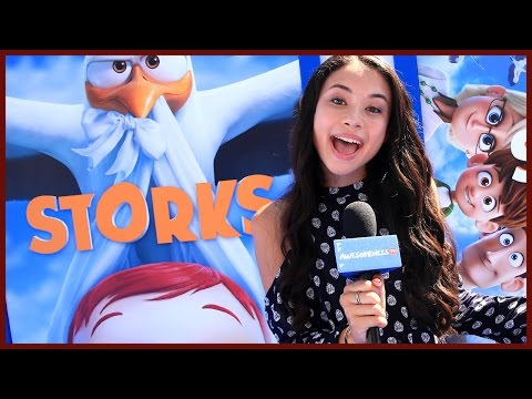 Baby Host Delivers at Storks Red Carpet w/ Andy Samberg!