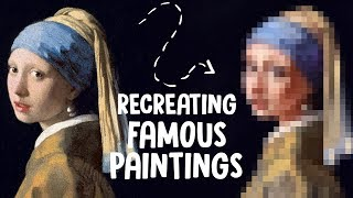 Recreating FAMOUS PAINTINGS! (An attempt was made)