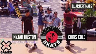 Nyjah Huston vs. Chris Cole: GAME OF SKATE QUARTERFINALS | World of X Games