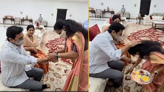 Kavitha ties Rakhi to KTR..