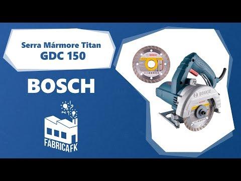 Serra Mármore Titan 1500W com 2 Discos Gdc150 Bosch - 127V - Vídeo explicativo