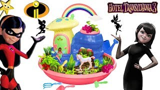 THE INCREDIBLES 2 Violet vs HOTEL TRANSYLVANIA 3 Mavis | My Fairy Garden Unicorn Paradise w/ Toys