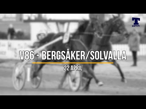 Travtips V86 Solvalla/Bergsåker 22 april 2019