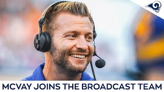 Coach Sean McVay Commentates the Game from the Sidelines   Rams vs Cowboys Preseason Week 2