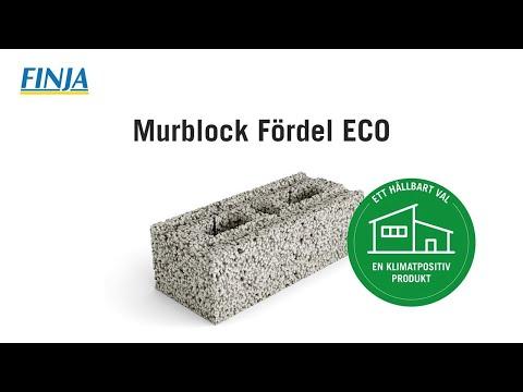 Klimatpositiva byggprodukter – Murblock Fördel ECO
