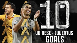 Udinese - Juventus - Top 10 Gol | Ronaldo, Del Piero, Giovinco e altri! | Juventus
