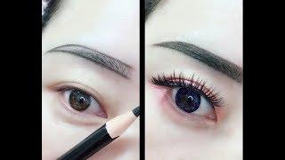 Hướng dẫn kẻ mắt và kẻ chân mày | Easy Eyeliner and Eyebrow  Tutorial For Beginners | Part 2