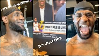 LeBron responds to Stephen A Smith & First Take while he's working out