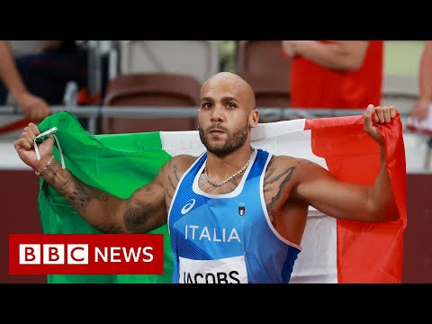 Tokyo Olympics: Italy's Lamont Marcell Jacobs claims shock 100m gold- BBC News
