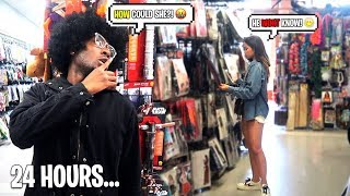 I Followed my Crush for 24 Hours & Caught her Cheating... SPYING UNDER DISGUISE GONE WRONG!