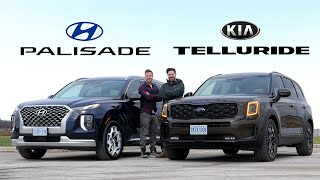 2021 Kia Telluride vs Hyundai Palisade // Battle Of The Affordable Luxury SUVs