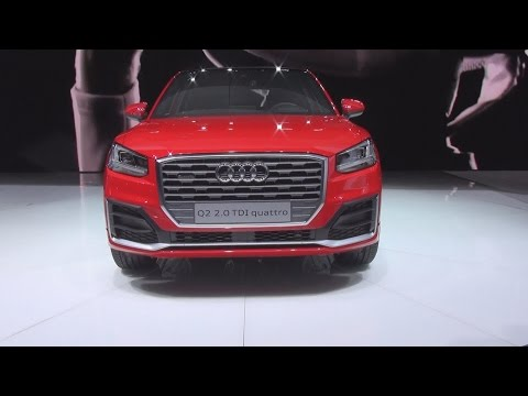 Audi Q2 2.0 TDI Quattro Red (2016) Exterior and Interior in 3D