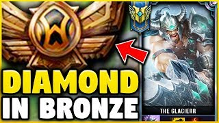 I TOOK MY TRYNDAMERE INTO BRONZE FOR THE FIRST TIME! DIAMOND TRYN VS BRONZE ELO! - League of Legends