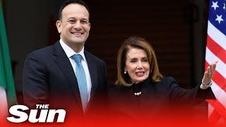 Nancy Pelosi addresses Irish parliament in Dublin