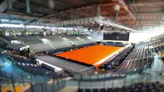 Laying the Clay Court - Porsche Tennis Grand Prix