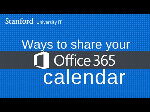 Ways to share your Office 365 calendar