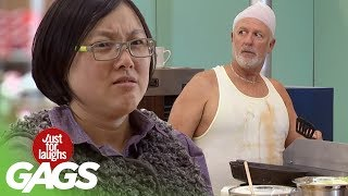 The Nastiest Fast Food Prank - Just For Laughs Gags