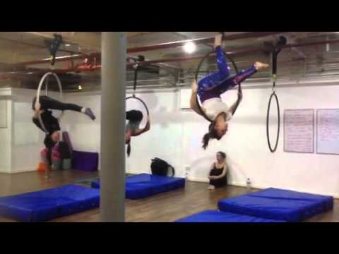 Xmas advanced aerial hoop routine