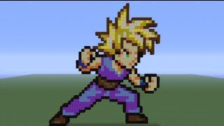 Minecraft Pixel Art Teen Gohan Tutorial Youtube