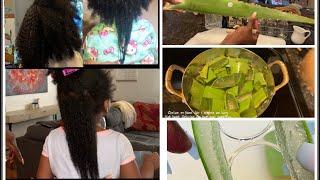 DIY ALOE VERA OIL TO DOUBLE CHILD'S HAIR GROWTH
