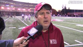 Mike Leach after practice Oct. 24