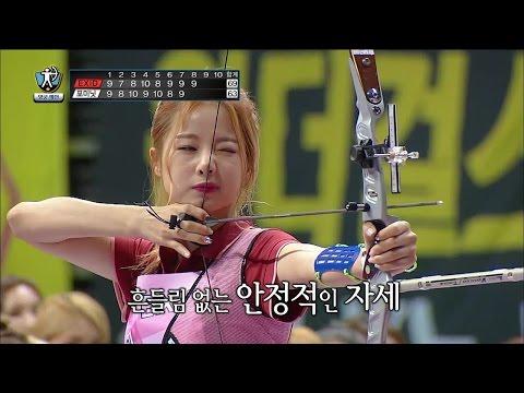 【TVPP】 EXID, 4MINUTE - W Archery Preliminaries, EXID, 포미닛 - 여자 양궁 예선 @ 2015 Idol Star Championships