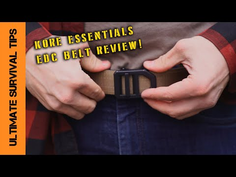 NEW! Kore Essentials X5 Gun Belt -  TACTICAL/EDC - Demo and Comparison