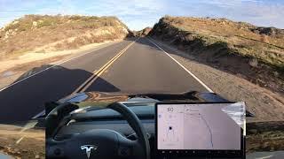 Tesla Autopilot Fast on Winding Road - V9 versus V8