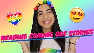 Reading Your Coming Out Stories (emotional) | Just Sharon