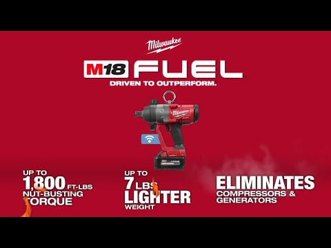 "Milwaukee M18ONEFHIWF1-802X 1"" Inch Drive High Torque Impact Wrench With 2 x 8.0Ah Batteries, Charger & Case"