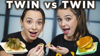 TWIN vs TWIN Who can make better tiny food? - Merrell Twins