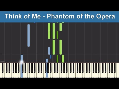 Think of Me - Phantom of the Opera - Synthesia Piano Tutorial