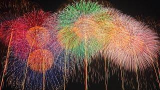 【4K】2015  World Aerial Fireworks Shell こうのす花火大会 世界一 魂のラストスターマイン「鳳凰乱舞」 ギネス四尺玉、三尺玉、尺玉300連発