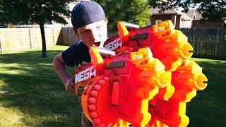 NERF WAR : WORLD'S MOST POWERFUL GUNS!