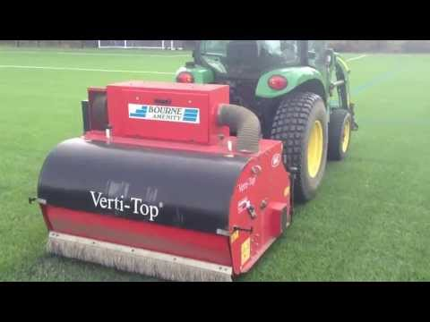 Verti cleaning of artificial 3G football pitch