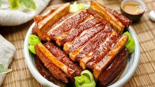 Chinese Braised Pork Belly Slices with Taro l 粵菜- 香芋扣肉