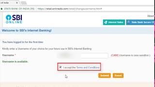 SBI INB: First Time Login to Internet Banking full video [ Hindi - हिंदी ]